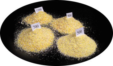 pig feed particle size